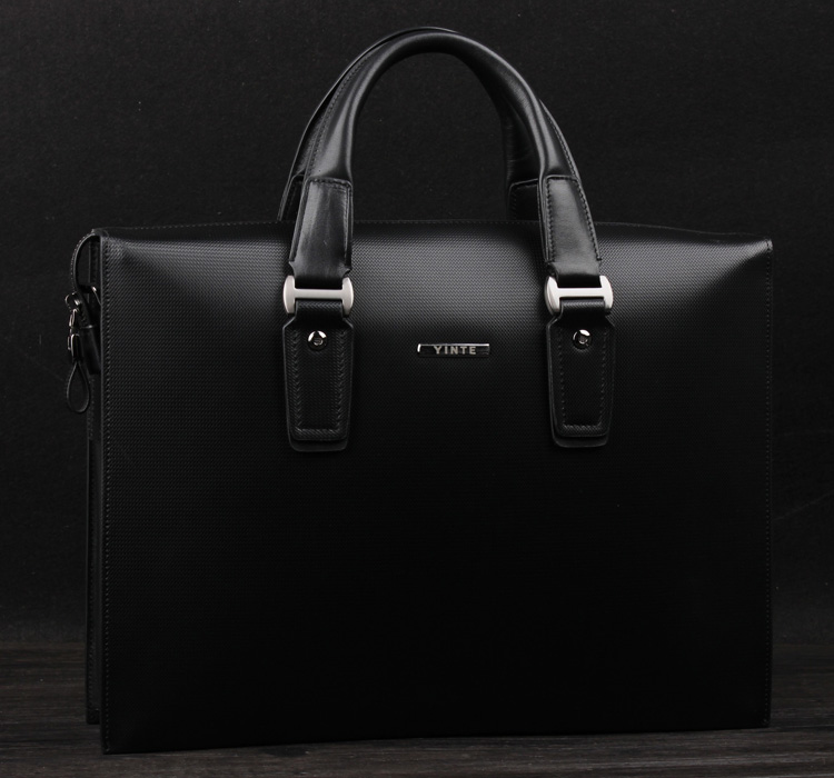 Luxury High-end Genuine Leather Black Checkered Bag, New